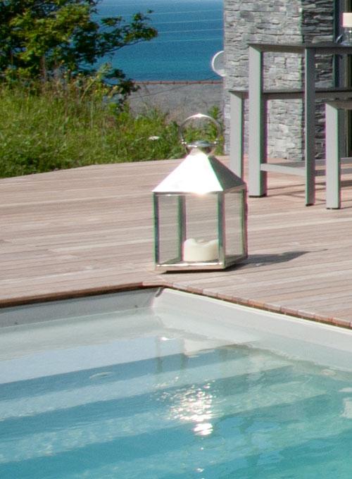 Piscine Évolution bord mer spa sauna